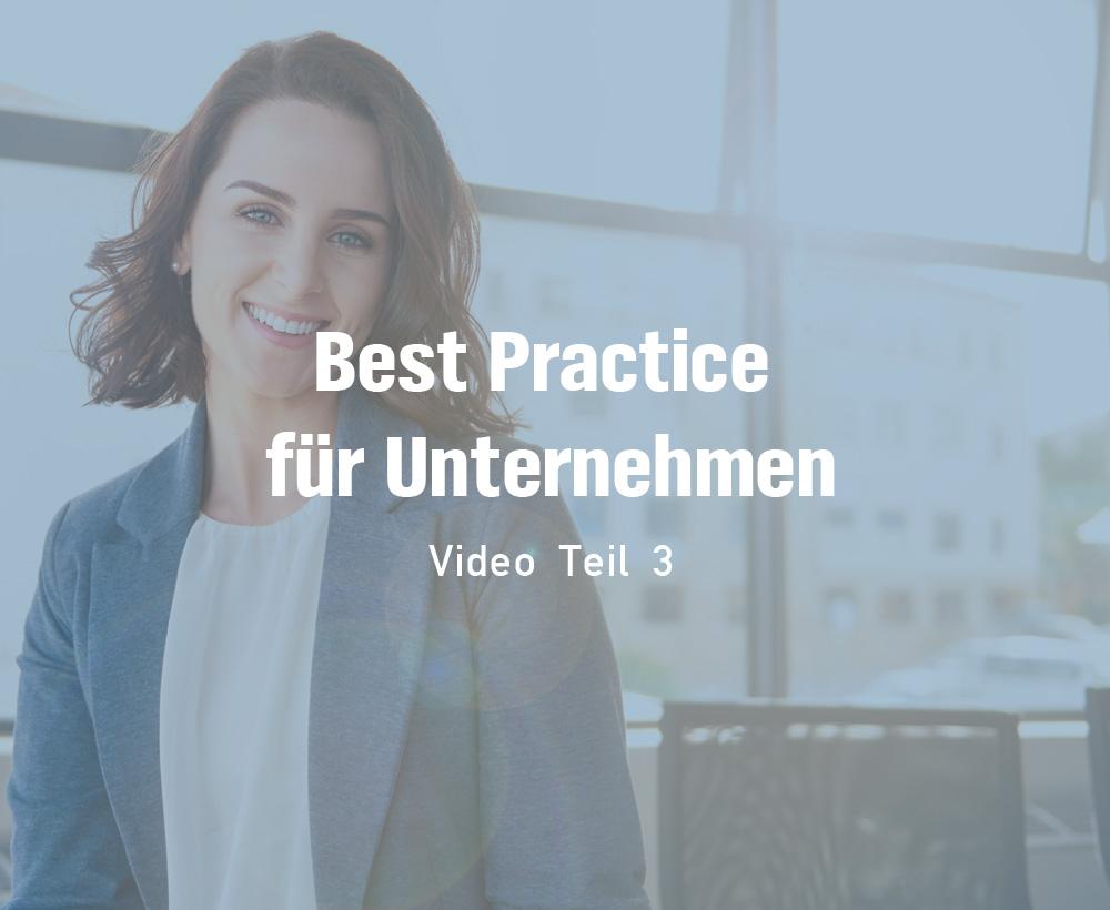 Teil 3: Vorstellung - Best-Practice für Unternehmen